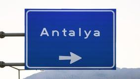 Znak Antalya miasto w Kemer, Turcja fotografia royalty free