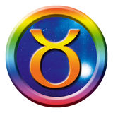 znak astrologii taurus royalty ilustracja