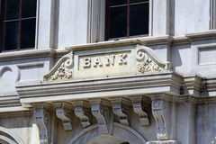 Znak bank fotografia royalty free