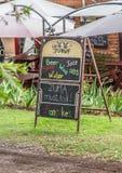 Znak bar przy pielgrzymami Odpoczywa z polityczną wiadomością prezydent Zuma Obraz Stock