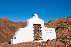 Znak Betancuria okręg w Fuerteventura wyspie, wyspy kanaryjska Zdjęcie Royalty Free