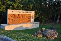 Znak Biscayne park narodowy Obraz Royalty Free