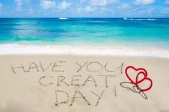 Znak ciebie wielki dzień! Fotografia Stock