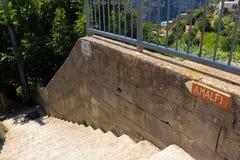 Znak dla Amalfi, Włochy zdjęcie royalty free