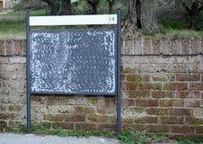 Znak dla billboardów Zdjęcia Royalty Free