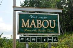 Znak dla Mabou w przylądka bretończyku, nowa Scotia Zdjęcie Royalty Free
