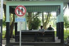 Znak dla pary Zdjęcia Stock