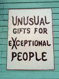 Znak dla prezentów fotografia stock