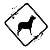 Znak dla psa zdjęcie royalty free