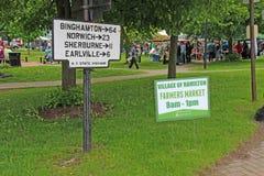 Znak dla rolników wprowadzać na rynek w Hamilton, Nowy Jork Zdjęcia Royalty Free