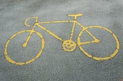 Znak dla roweru pasa ruchu Zdjęcia Royalty Free