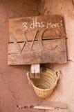 Znak dla toalety w Maroko w Ben fotografia royalty free