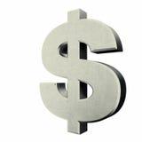 znak dolara srebra Obrazy Stock