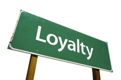 znak drogowy lojalności Zdjęcia Stock