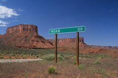 znak drogowy moab obraz royalty free