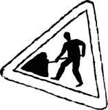 znak drogowy pracy royalty ilustracja