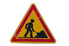 znak drogowy pracy obraz royalty free