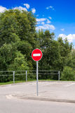 znak drogowy wejścia nr Zdjęcie Stock