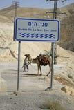 znak drogowy z morza Obraz Royalty Free
