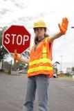 znak drogowy załogi stop Obrazy Stock