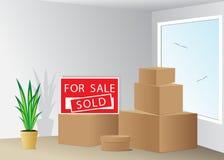 znak grafiki komputerowy projekta nieruchomości reala znak Zdjęcie Stock