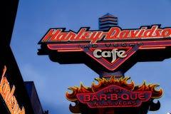 Znak Harley Davidson Las Vegas kawiarnia zdjęcia stock