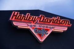 Znak Harley Davidson Las Vegas kawiarnia zdjęcie stock