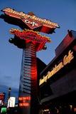 Znak Harley Davidson Las Vegas kawiarnia zdjęcia royalty free