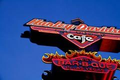 Znak Harley Davidson Las Vegas kawiarnia obrazy royalty free