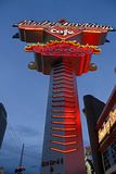 Znak Harley Davidson Las Vegas kawiarnia zdjęcie royalty free