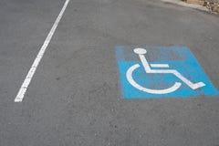 Znak i symbol samochodowy parking dla obezwładniamy zdjęcia stock