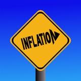 znak inflacji ostrzeżenie Obrazy Stock
