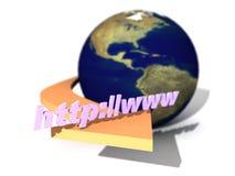 znak internetu Fotografia Stock