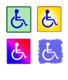 znak kolorowy zbierania osób niepełnosprawnych Zdjęcie Stock