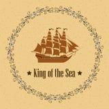 Znak królewiątko morze Zdjęcie Royalty Free