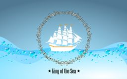 Znak królewiątko morze Zdjęcia Royalty Free