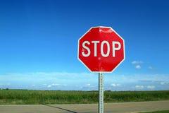znak kraju stop Obraz Royalty Free