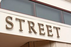 Znak który czyta z słowem ulica Obraz Royalty Free