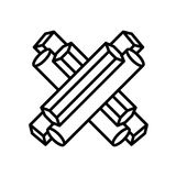 Znak list X Zdjęcie Royalty Free