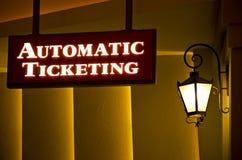 znak literatury bilet do kina Obrazy Stock