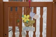 Znak na bramie Obraz Royalty Free