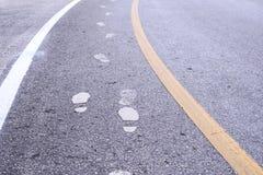 Znak na drodze dla przejście pasa ruchu Fotografia Stock