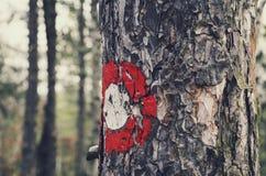 Znak na drzewie zdjęcia royalty free