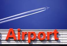 znak na lotnisko Obrazy Royalty Free