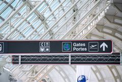 znak na lotnisko fotografia stock