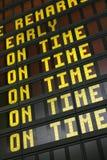 znak na lotnisko Zdjęcia Stock