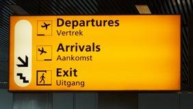 znak na lotnisko Zdjęcie Stock