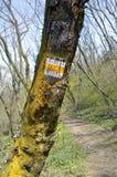znak na pieszą wycieczkę toru Obraz Royalty Free