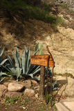 znak na pieszą wycieczkę toru Zdjęcia Royalty Free