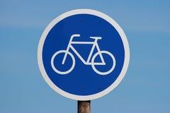 znak na rowerze Obraz Royalty Free